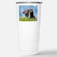 Puffin Pair Stainless Steel Travel Mug
