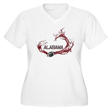 Crimson Tide Football Women's Plus Size V-Neck T-S