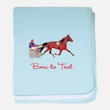 Born to Trot Infant Blanket
