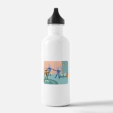 Sock Monkey Robot Party Water Bottle