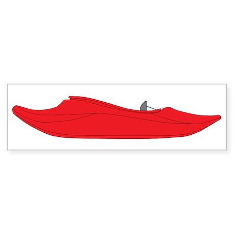 Red Playboat Sticker (Bumper)