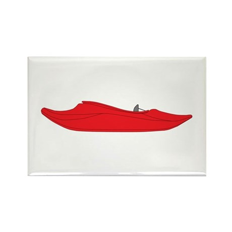 Red Playboat Rectangle Magnet (10 pack)