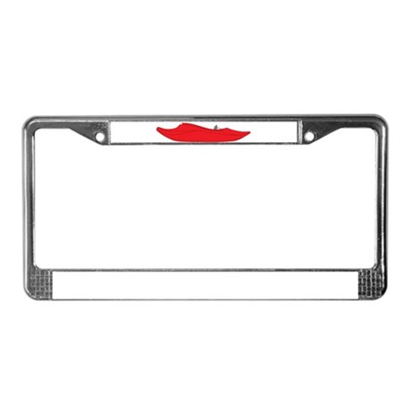Red Playboat License Plate Frame