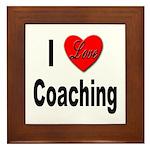I Love Coaching Framed Tile