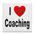 I Love Coaching Tile Coaster