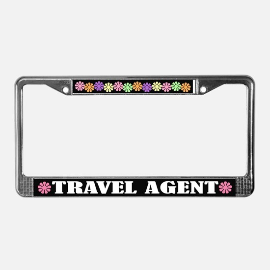 Travel Agent License Plate Frame