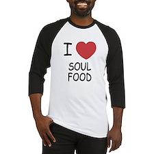 I heart soul food Baseball Jersey
