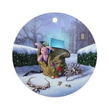 Aunt Dimity:Snowbound Ornament (Round)