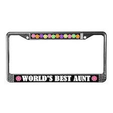 Aunt License Plate Frame