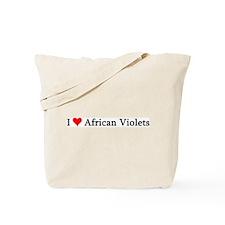 I Love African Violets Tote Bag