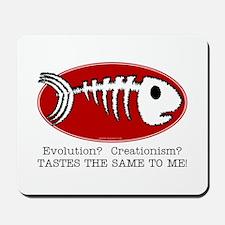 """Evolution? Creationism?"" Mousepad"