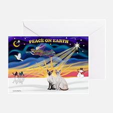 X-Sunrise-2 Siamese (P1) Greeting Card