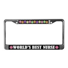Worlds Best Nurse License Plate Frame