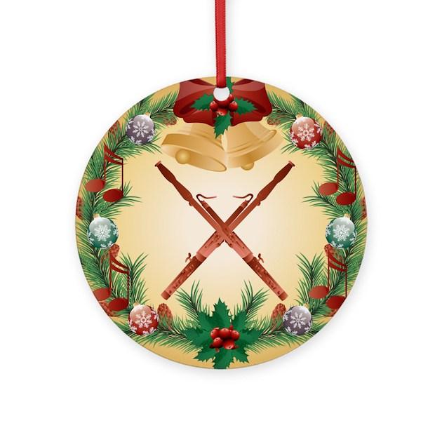 Bassoon christmas music tree ornament by milestonesmusic