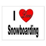 I Love Snowboarding Small Poster