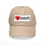 I Love Snowboarding Cap