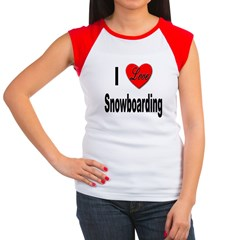 I Love Snowboarding Women's Cap Sleeve T-Shirt
