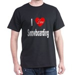 I Love Snowboarding (Front) Black T-Shirt