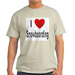 I Love Snowboarding (Front) Ash Grey T-Shirt