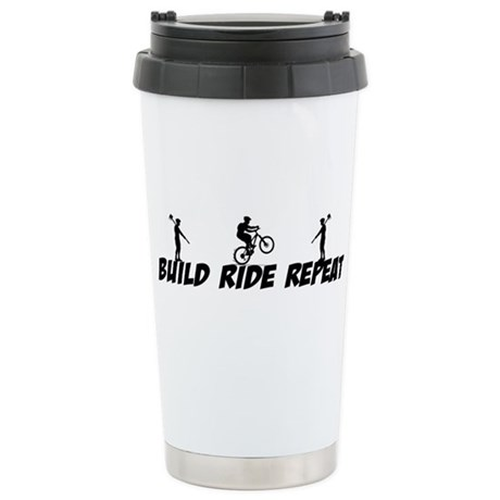 Build Ride Repeat Stainless Steel Travel Mug