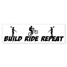 Build Ride Repeat Bumper Sticker