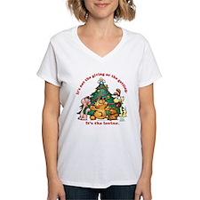 It's The Loving Women's V-Neck T-Shirt