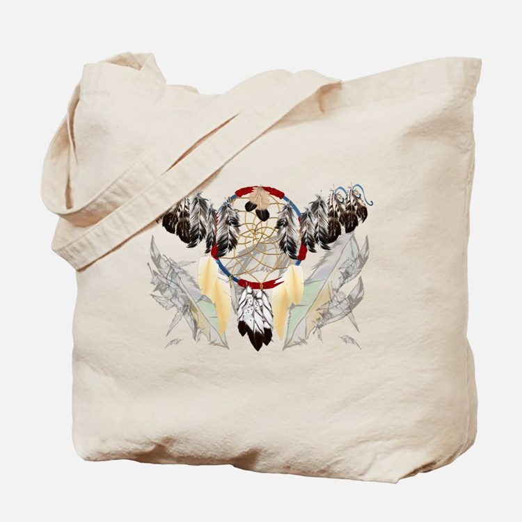 Dream Catcher and Feathers(wide) Tote Bag
