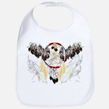 Dream Catcher and Feathers(wide) Bib