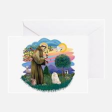 St Fran. (ff) - White Persian Greeting Card