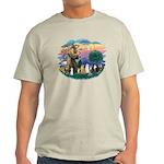 St Francis (ff)-7 Cats Light T-Shirt