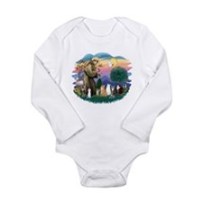 St Francis (ff)-7 Cats Long Sleeve Infant Bodysuit