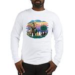 St Francis (ff)-7 Cats Long Sleeve T-Shirt