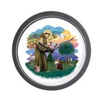 St. Fran (ff) - Maine Coon (#9) Wall Clock