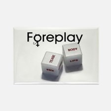 FOREPLAY dice Rectangle Magnet
