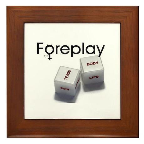 FOREPLAY dice Framed Tile