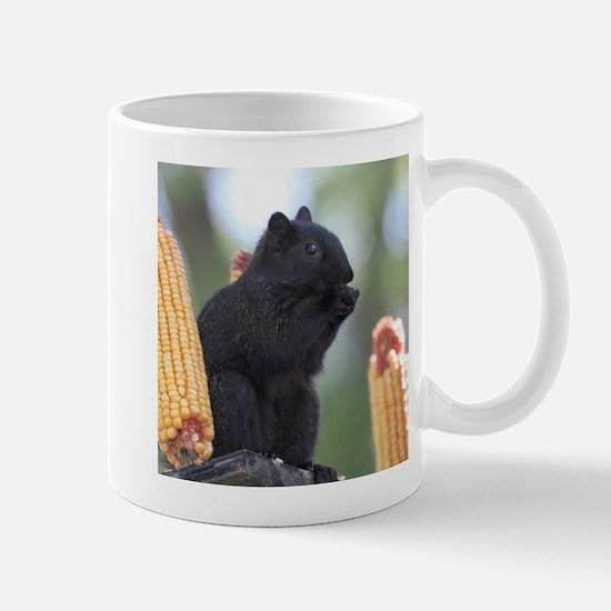 Black squirrel Mugs