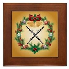 Bassoon Christmas Music Framed Tile