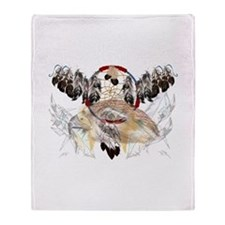 Dream Catcher and Feathers an Throw Blanket