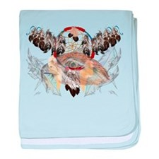 Dream Catcher and Feathers an Infant Blanket