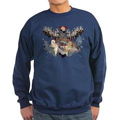 Dream Catcher and Feathers an Sweatshirt (dark)
