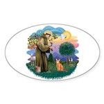 StFran(f)-Abyssin. (rd) Sticker (Oval 10 pk)