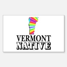 Vermont native Sticker (Rectangle)