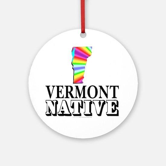 Vermont native Ornament (Round)