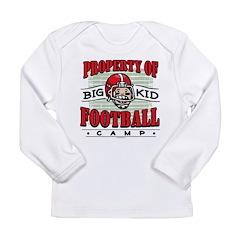 Big Kid Football Red Long Sleeve Infant T-Shirt