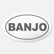 Banjo Music Sticker (Oval)