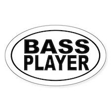 Bass Player Sticker (Oval)