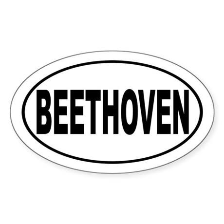Beethoven Composer Sticker (Oval)