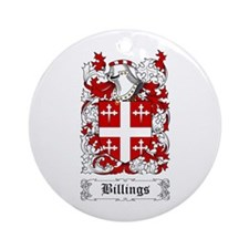 Billings Ornament (Round)