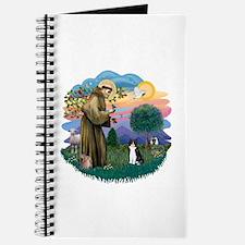 St Fran (ff) - Black/White cat Journal