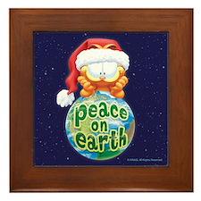 Peace On Earth Garfield Framed Tile
